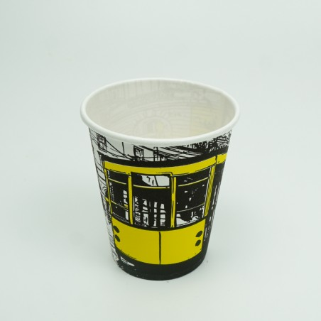 7 OZ Yellow Patterned Paper Cup