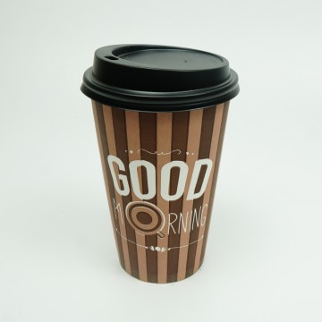 16 OZ Brown Paper Cups with...